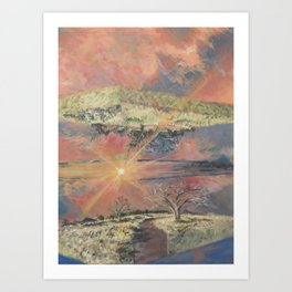 Sunset at Olympic Park Art Print