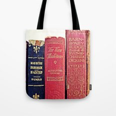 antique books by Dumas and Dickens Tote Bag
