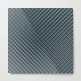 Decorative Seafoam Blue Grey Pin Wheel Pattern Metal Print
