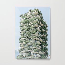 Bosco Verticale, Vertical Forest, Wall Decor, Architectural Print, Modern Building Metal Print