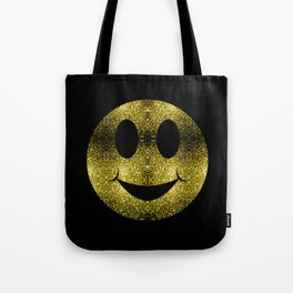 Sparkly Smiley Yellow Gold sparkles Tote Bag