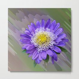 blue violet flower Metal Print