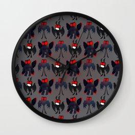 Mothman Mayhem  Wall Clock