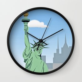 """Statue of Liberty "" NYC Wall Clock"