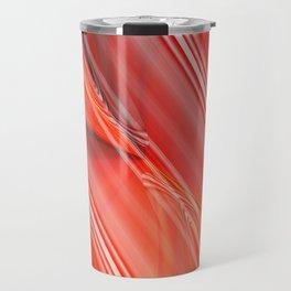 Abstract orangered Travel Mug