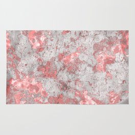 White Marble & Pink Gold Rug