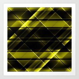 modern stripes pattern c8 Art Print