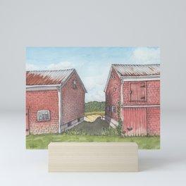 Between Two Barns Mini Art Print