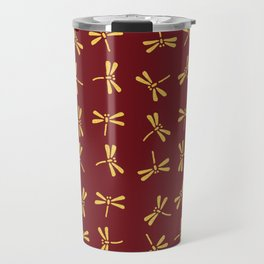 Japanese Dragonflies - Crimson and Gold Travel Mug
