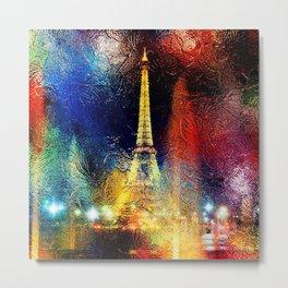 One Night At The Eiffel Tower - Paris Metal Print