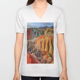 colours mountains Unisex V-Neck