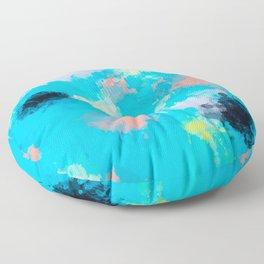 Abstract Paint splatter design Floor Pillow