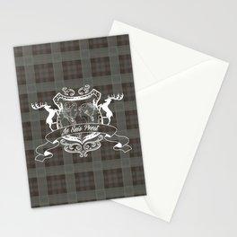 Outlander plaid with Je Suis Prest crest Stationery Cards