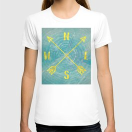 Compass Tree Teal and Gold T-shirt