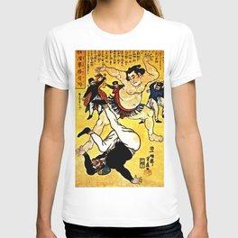 Foreigner and Wrestler at Yokohama T-shirt