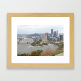Downtown Pittsburgh in the Fall 23 Framed Art Print