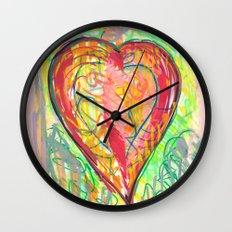torn heart Wall Clock