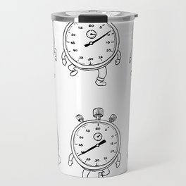 Stopwatch Running Run Cycle Drawing Sequence Travel Mug