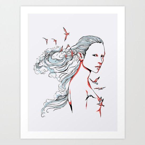 Queen of Ocean Art Print