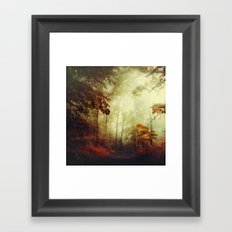 That's not my way - misty woodland Framed Art Print