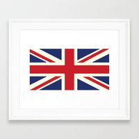 uk Framed Art Prints featuring UK by Lucy Jacquard