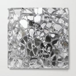 Silver Mirrored Mosaic Metal Print