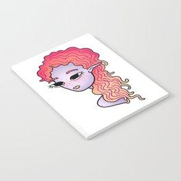 alien head illustration Notebook