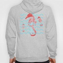 Beachy Seahorses Dancing in the Waves Hoody