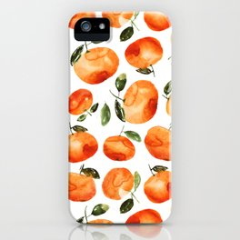 Watercolor tangerines iPhone Case