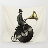 posters Wall Tapestries featuring Music Man by Eric Fan