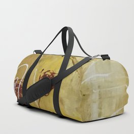 Yellow Tan Spring Abstract Flowers. Jodilynpaintings. Abstract Floral Duffle Bag