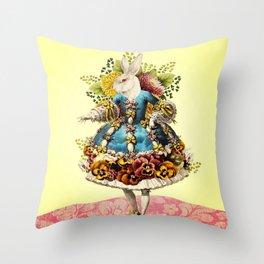 Elegant Rabbit Throw Pillow