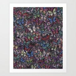 midnight fantasy butterflies aflutter Art Print