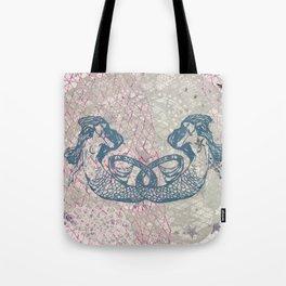 Double Mermaids Tote Bag