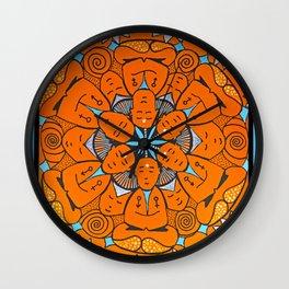 No mind mandala Wall Clock