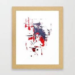 The Face Framed Art Print