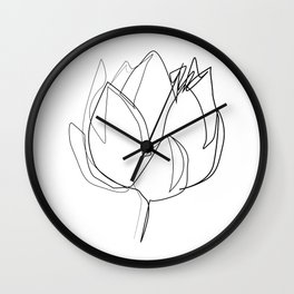 """Botanical Collection"" - Lotus Flower Wall Clock"