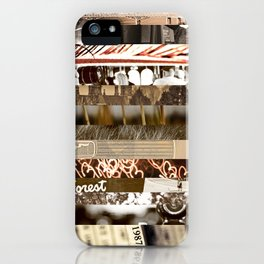 Brown Intersections iPhone Case