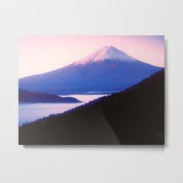 Mount Fuji In Morning Haze Metal Print