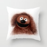 muppets Throw Pillows featuring Rowlf, The Muppets by KitschyPopShop