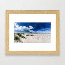 Grenen Beach Panorama Framed Art Print