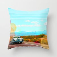 freedom Throw Pillows featuring Freedom by Kakel-photography
