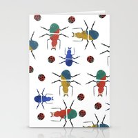 insects Stationery Cards featuring playful insects by Lydia Coventry
