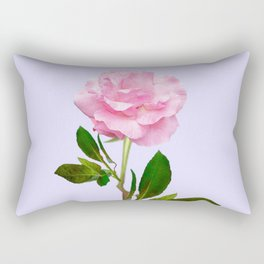 SINGLE PINK ROSE FOR LOVE Rectangular Pillow