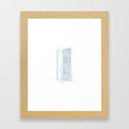 Door to somwhere else Framed Art Print