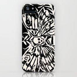 Death Hawk Moth Intaglio Print iPhone Case