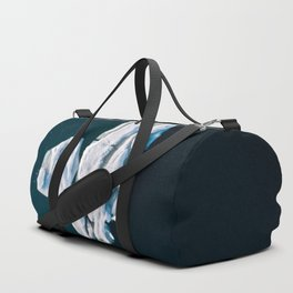 Lone, minimalist Iceberg from above - Landscape Photography Duffle Bag