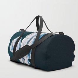 Lone, minimalist Iceberg from above - Landscape Photography Duffle Bag