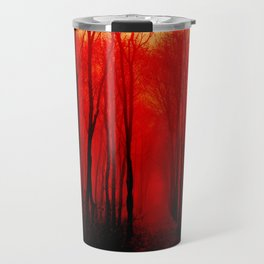 Misty Red Forest Travel Mug