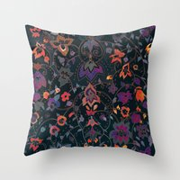 bali Throw Pillows featuring Bali Floral by Nikkistrange